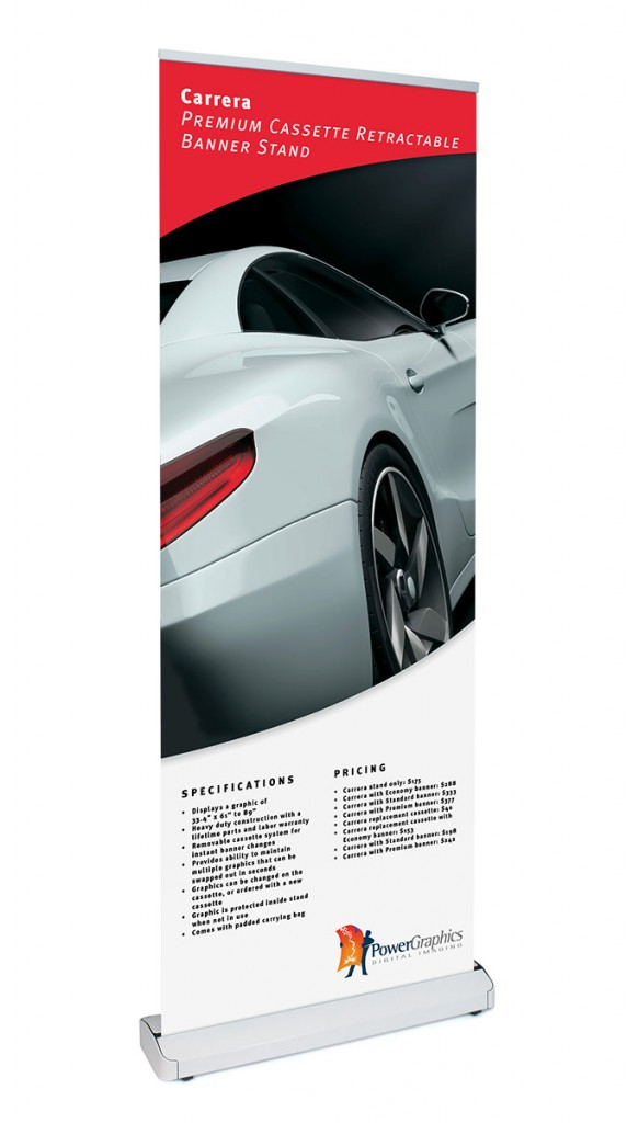 Carrera retractable banner stand