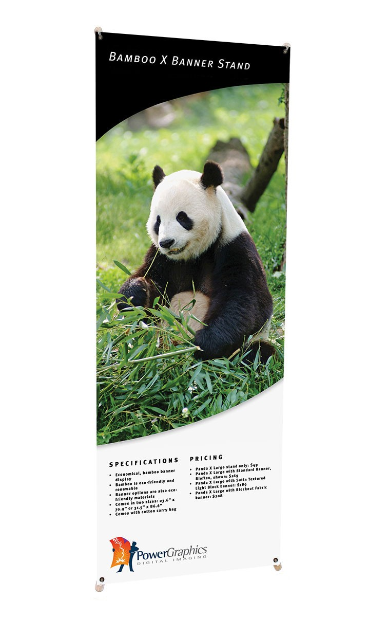 Bamboo X Large Portable X Banner Stand