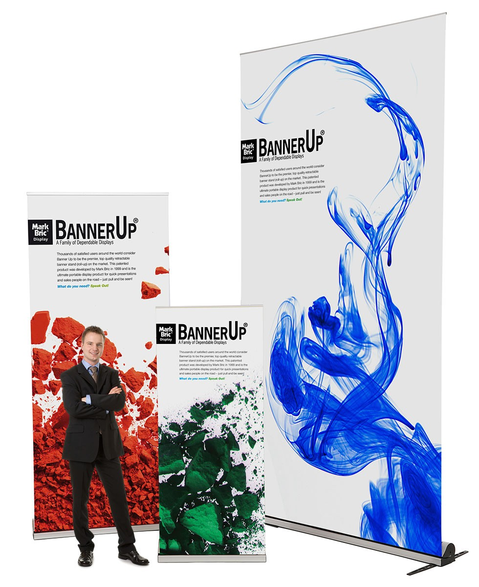 BannerUp Plus 24 Retractable Banner Stand