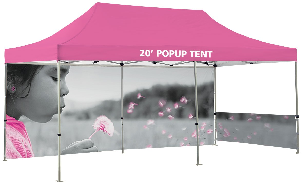 ... 20u0027 Canopy Tent Kit will full custom printed top and walls  sc 1 st  Banner Stand Pros & 20u0027 Canopy Tent Kit | BannerStandPros.com