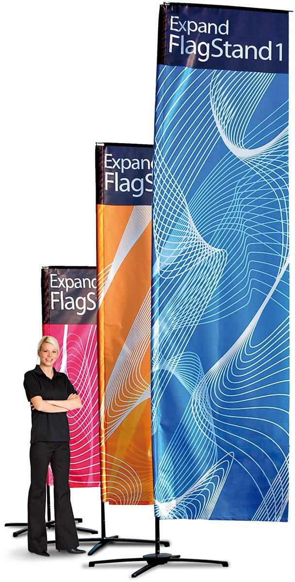 Expand FlagStand Small Outdoor Flag and Banner Pole