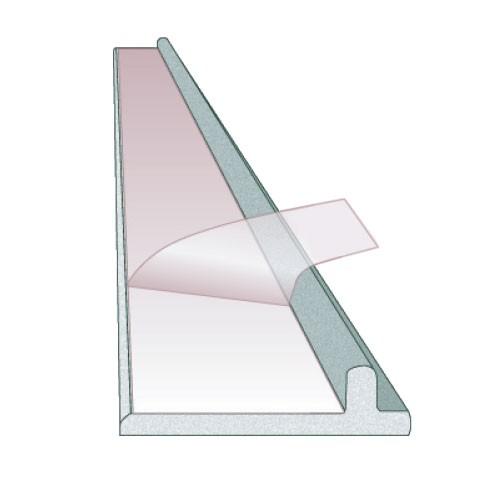 Expolinc aluminum panel strip for top rail