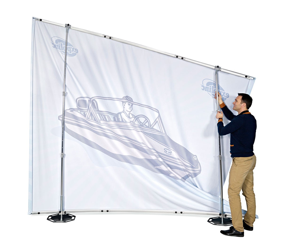 Expolinc Fabric System 8x8 Outer Curve Wall