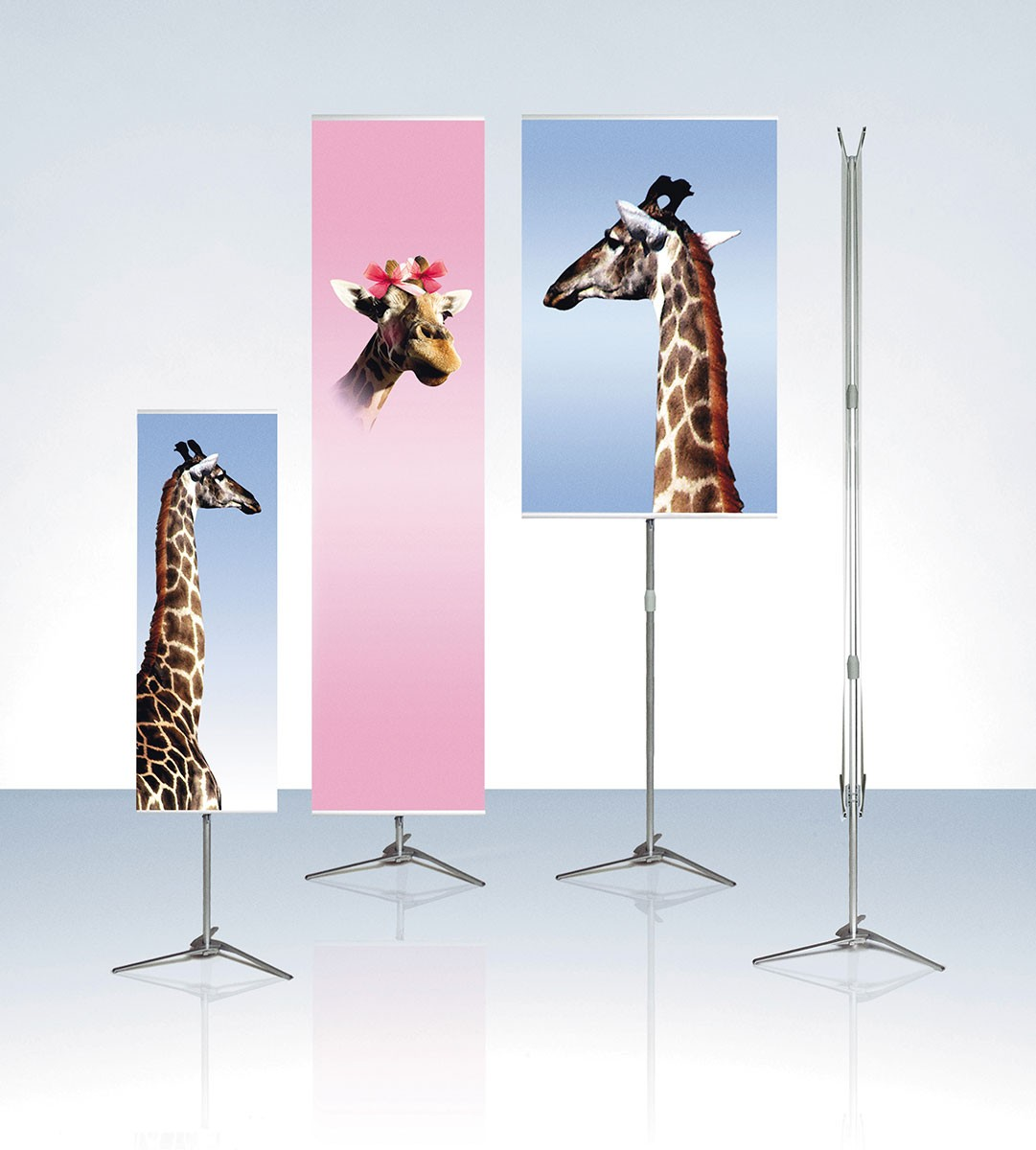 Expolinc Pole System 21 Double Two Sided Portable Banner Stand