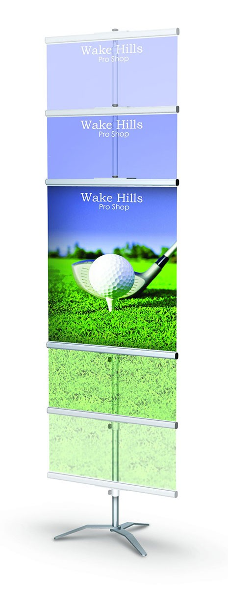GripGraphic Banner Stand 24 Portable Banner Stand
