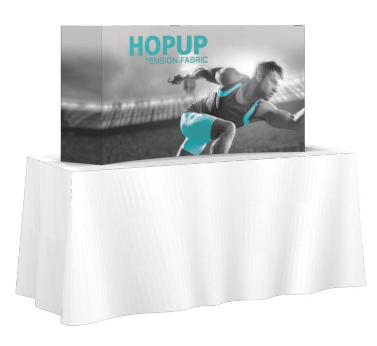 HopUp 2x1 Tension Fabric Table Top Display