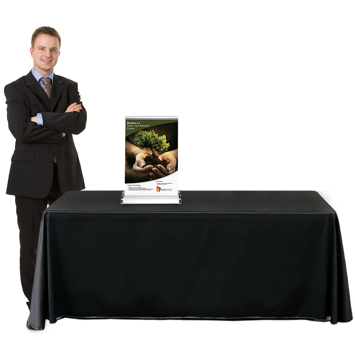 Nimbus 11 Table Top Retractable Banner Stand