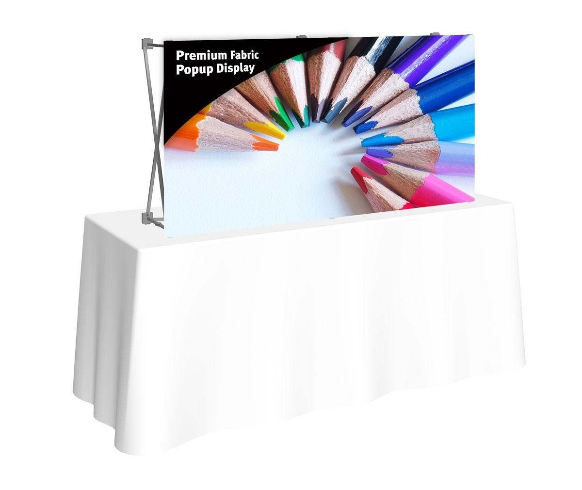 Premium Fabric Popup 5' x 2.5' Table Top Display