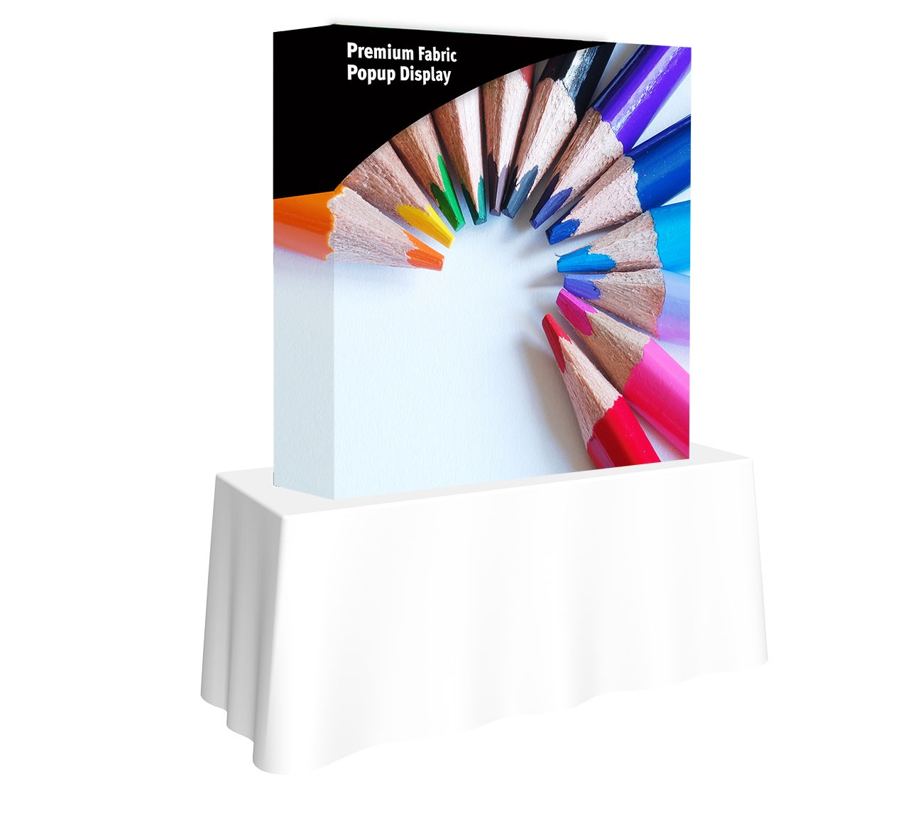 Premium Fabric Popup 2x2 Table Top Display