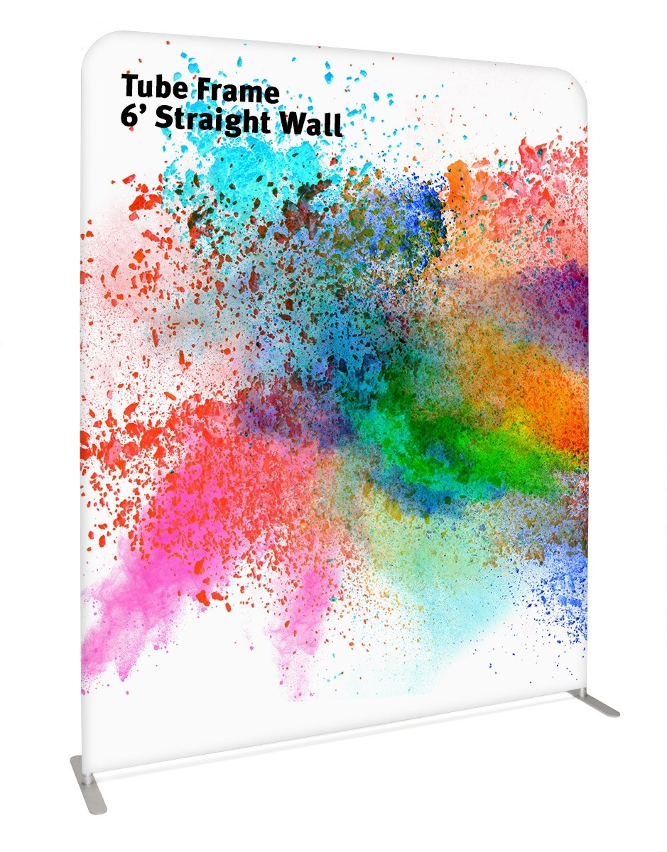 Tube Frame 6' Straight Wall Pillowcase Fabric Display