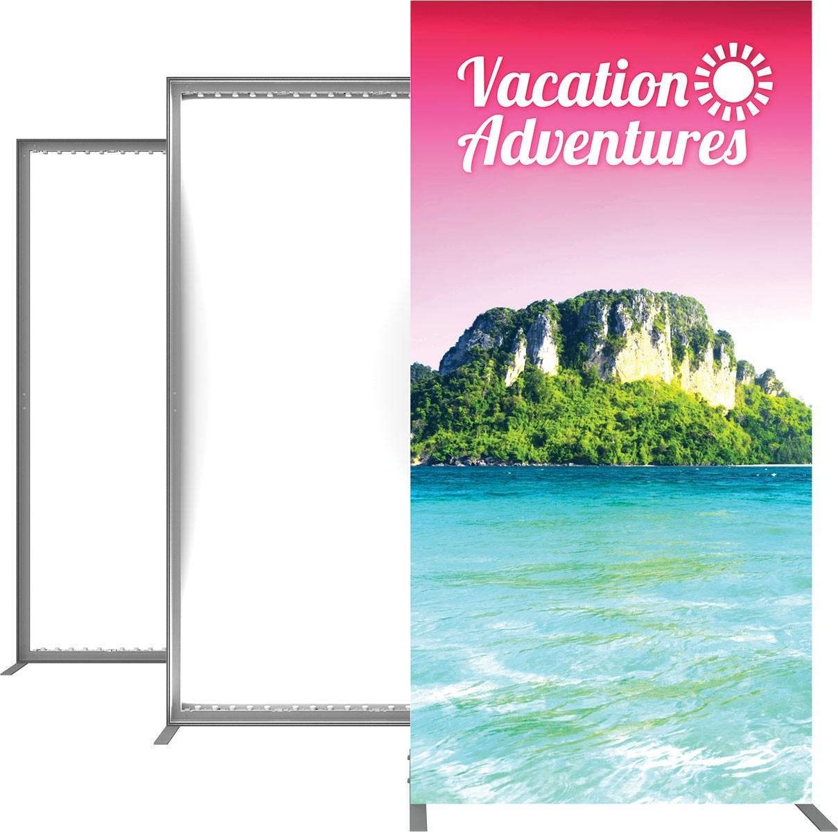Enchanting Banner Tension Frame Illustration - Picture Frame Ideas ...