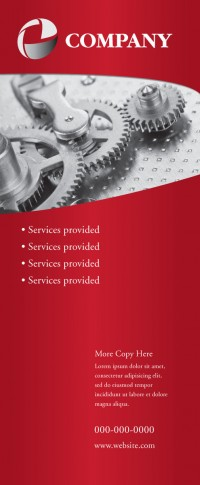 Banner Design - Services Red