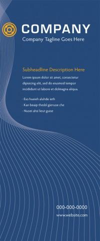 Banner Design - Blue Lines