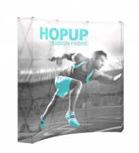 HopUp 3x3 Backlit Graphic with End Caps