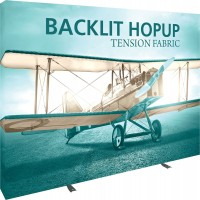 Backlit Hopup 10' Straight Tension Fabric Display