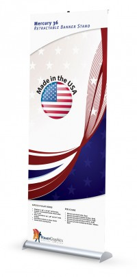 Mercury 36 Retractable Banner Stand