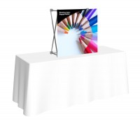 Premium Fabric Popup 1x1 Table Top Display