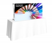 Premium Fabric Popup 2x1 Table Top Display