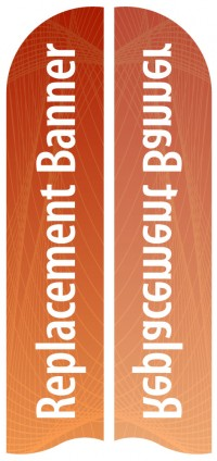 Large Single Sided Replacement Feather Banner