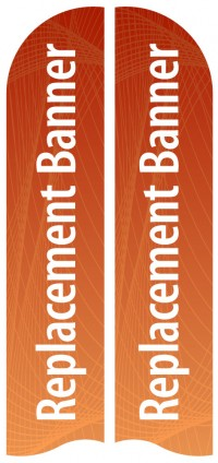 Large Double Sided Replacement Feather Banner