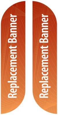 Medium Double Sided Replacement Feather Banner