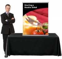 Sterling 2 Table Top 33 Double Sided Retractable Banner Stand