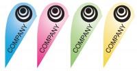 Teardrop Banner Design - Gradient