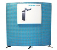 Triga 4x8 Convex Wall Tension Fabric Display