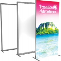 Vector Frame Backlit Banner 4x8 Illuminated Tension Fabric Display