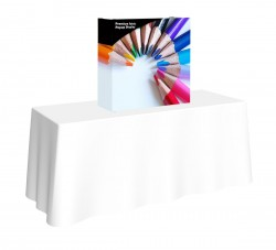 Premium Fabric Popup 2.5' Table Top Replacement Graphic with End Caps
