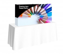Premium Fabric Popup 5' x 2.5' Table Top Replacement Graphic with End Caps