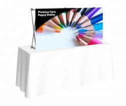 Premium Fabric Popup 5' x 2.5' Table Top Front Replacement Graphic