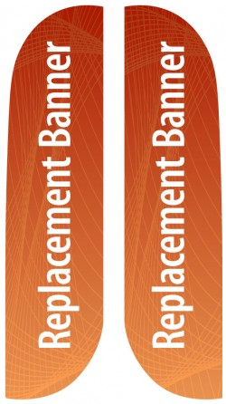 Small Double Sided Replacement Feather Banner