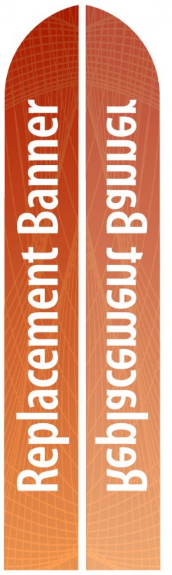 XL Single Sided Replacement Feather Banner