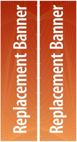 "Expand Flagstand XL 180"" Double Sided Replacement Banner"