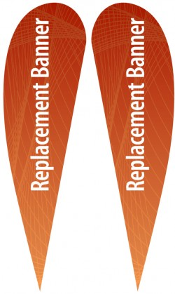 XL Double Sided Replacement Teardrop Banner